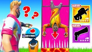 THE BOTON OF THE RANDOM LOOT !! (FORTNITE'S MINIGAME) - ElChurches