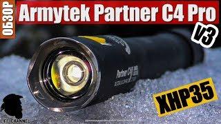 Тактический фонарь на 2х 18650 Armytek Partner C4 Pro v3 XHP35