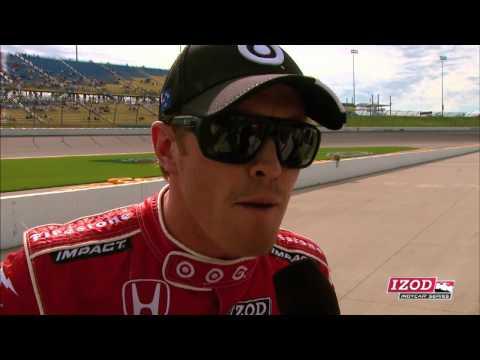 Scott Dixon qualifies 2nd at Iowa