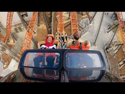 Copperhead Strike Roller Coaster Multi Angle POV! Front Seat - RiderCam - Off Ride - Carowinds