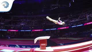 Anastasia BACHYNSKA (UKR) - 2018 Artistic Gymnastics Europeans, junior vault final
