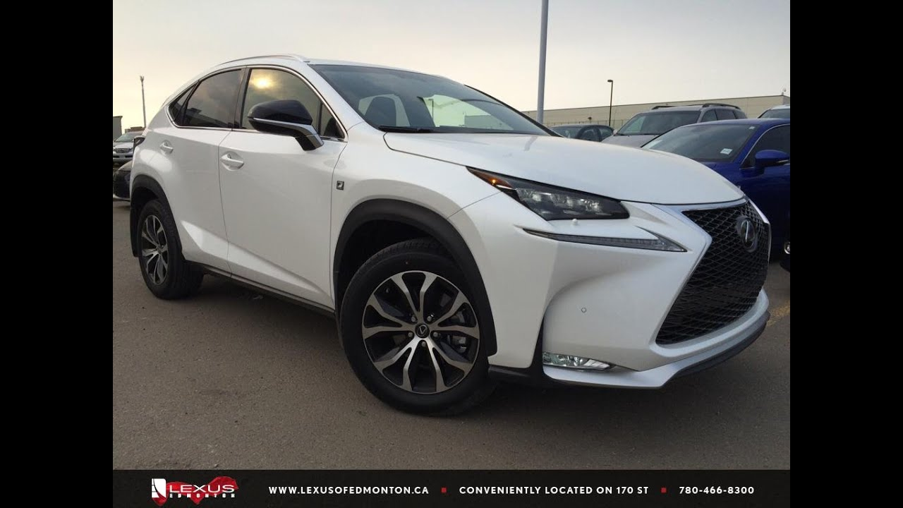 executive demo white 2015 lexus nx 200t awd f sport series 1 review spruce grove alberta youtube. Black Bedroom Furniture Sets. Home Design Ideas