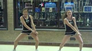 Erath High School Cheerleading Tryout Dance:  Front View
