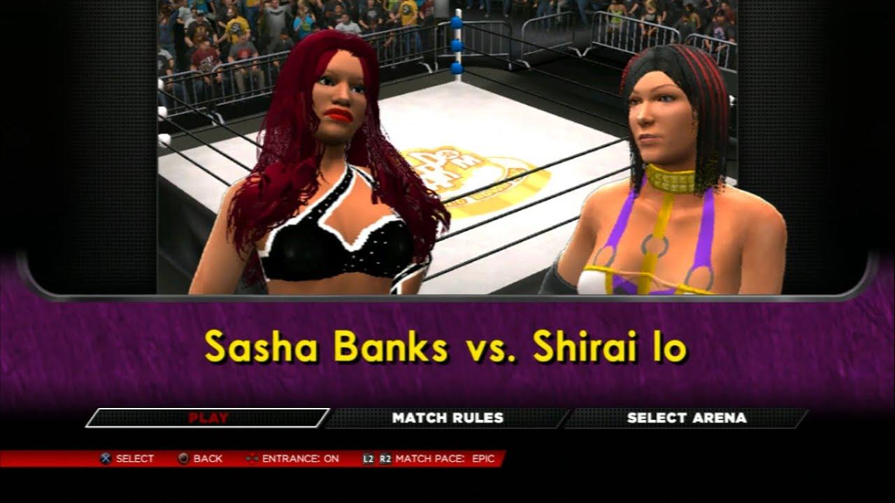 io shirai WWE 2k14 - Sasha Banks V Io Shirai 2(re-match)