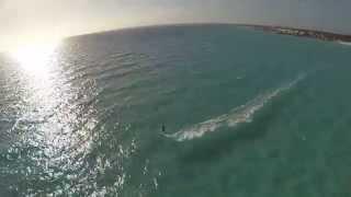Kitesurfing in Es Trenc, Mallorca