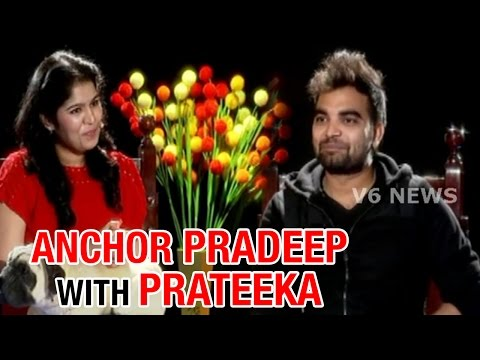 Anchor Pradeep Chit Chat With Prateeka || V6 Prateeka Show || Pakka Hyderabadi