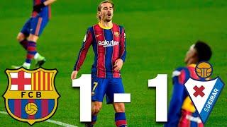 Barcelona vs eibar [1-1], la liga 2020/21 - match review