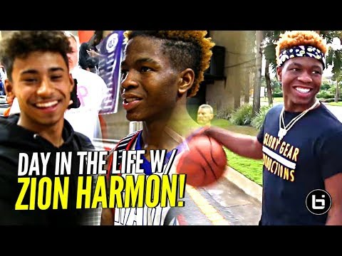 Day In The Life w/ Zion Harmon!!! Gets a Visit From Julian Newman & More! The #1 9th Grader!
