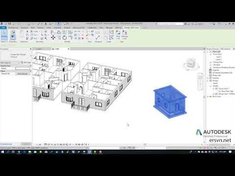 Hướng dẫn sử dụng Revit Architecture 2019 | Bài 39: Liên kết file Revit vào trong project
