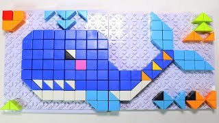 Sea Animals Brick Puzzle Whale and Seal