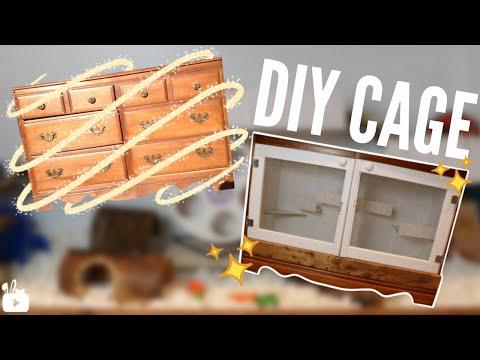 DIY homemade hamster cage!