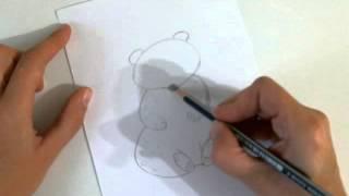 Рисуем быстро и просто.Как нарисовать Медвежонка.(Это видео уроки рисования для детей, с помощью которых можно нарисовать рисунок даже без навыков рисования., 2015-10-26T12:59:48.000Z)