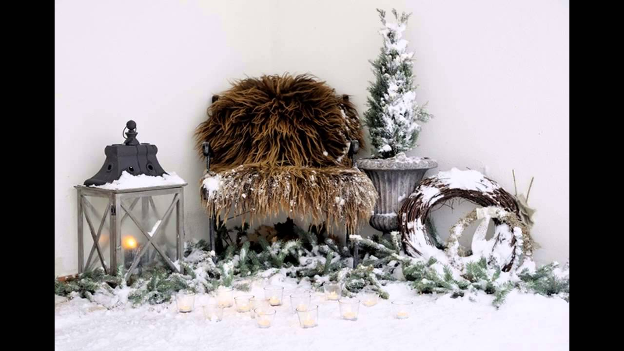 Ideas for Outdoor winter decorations