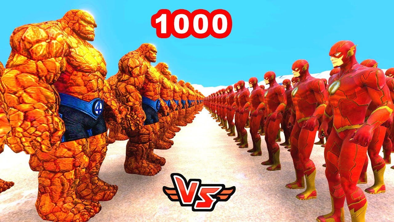 1000 TAŞ ADAM VS 1000 FLASH ? - Süper Kahramanlar