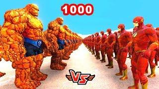 1000 TAŞ ADAM VS 1000 FLASH 😱 - Süper Kahramanlar