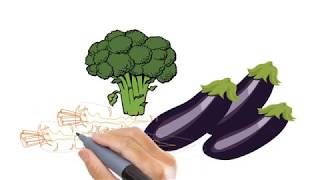 How To Draw An Aubergine | Vegetables