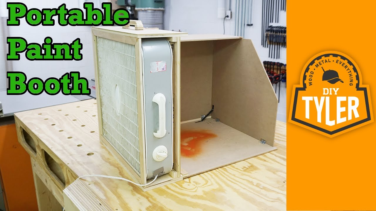 Portable Paint Booth >> Portable Paint Spray Booth | How To - YouTube