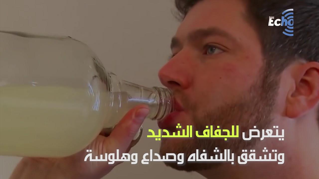شاب ألماني يجب ان يشرب 20 ليتر ماء يومياً أو يموت!