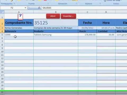 Control de inventarios con Excel desde una plantilla kardex solo - formato inventario en excel