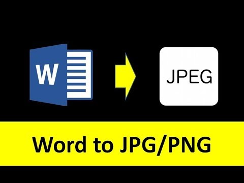 MS Word To JPG Picture