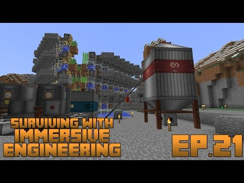 Surviving With Immersive Engineering :: Ep.21 - Steel Factory Update And Hemp Fiber Silo