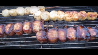 Grilled Bacon-wrapped Scallops