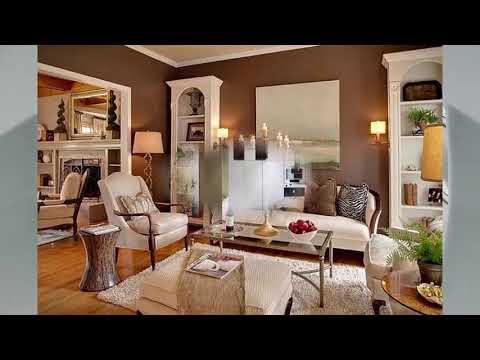 Creme Braunes Wohnzimmer