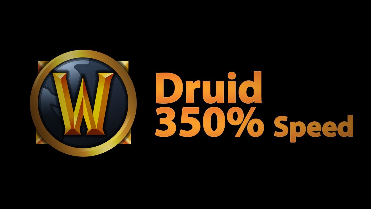 Druid Travel form 350% speed?!?! | World of Warcraft - YouTube