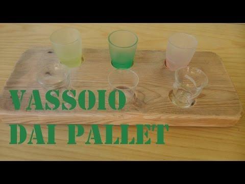 Vassoi In Legno Fai Da Te : Vassoio fai da te per bicchieri o candele by paolo brada diy youtube