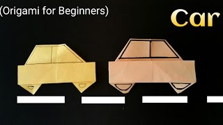 """How to make a easy Paper """"Car"""" - Origami for Beginners !!"""