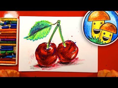 Видеоурок рисования масляной пастелью
