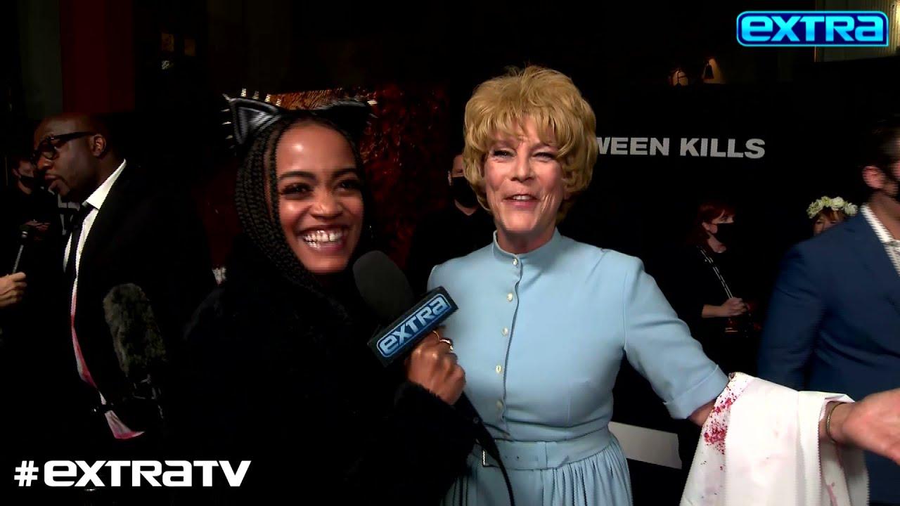 Jamie Lee Curtis Explains Her Gone-Viral Costume at 'Halloween Kills' Premiere
