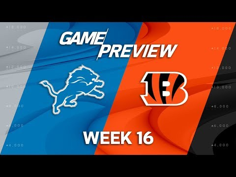 Detroit Lions vs. Cincinnati Bengals | NFL Week 16 Game Preview | NFL Playbook