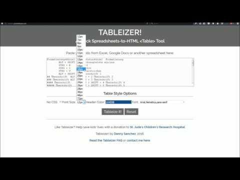 Tabellen Schnell In HTML Umwandeln
