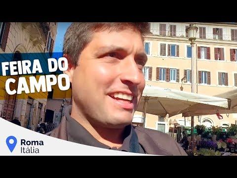A Feira do Campo de' Fiori em Roma