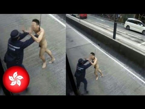Baeng pulis, napasuko ang isang hubad na lalaki sa Hong Kong!
