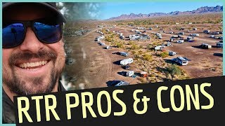 PROS & CONS of the RTR in Quartzsite 👍👎Cheap RV Living