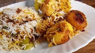 Egg Biryani l Egg Biryani Recipe in hindi simple l by Cooking with Benazir