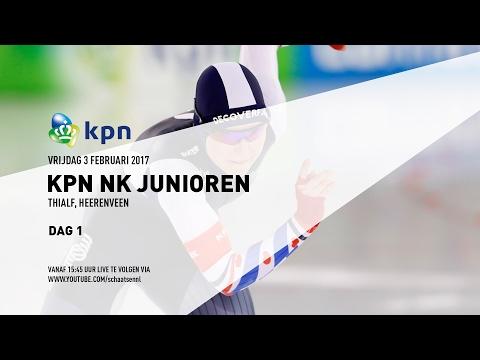 Livestream KPN NK Junioren Dag 1 -  3 februari 2017