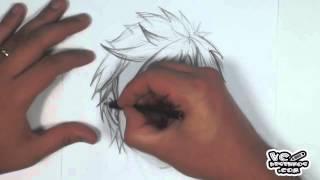 Como desenhar - Cabelo Mangá #2 (how to draw manga hair)