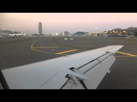 Approach and landing in Fujairah in a Rotana Jet E145
