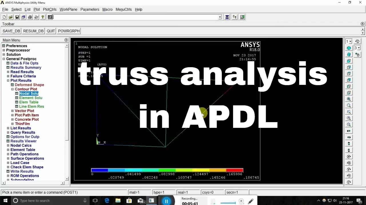 ANSYS 18 APDL truss example