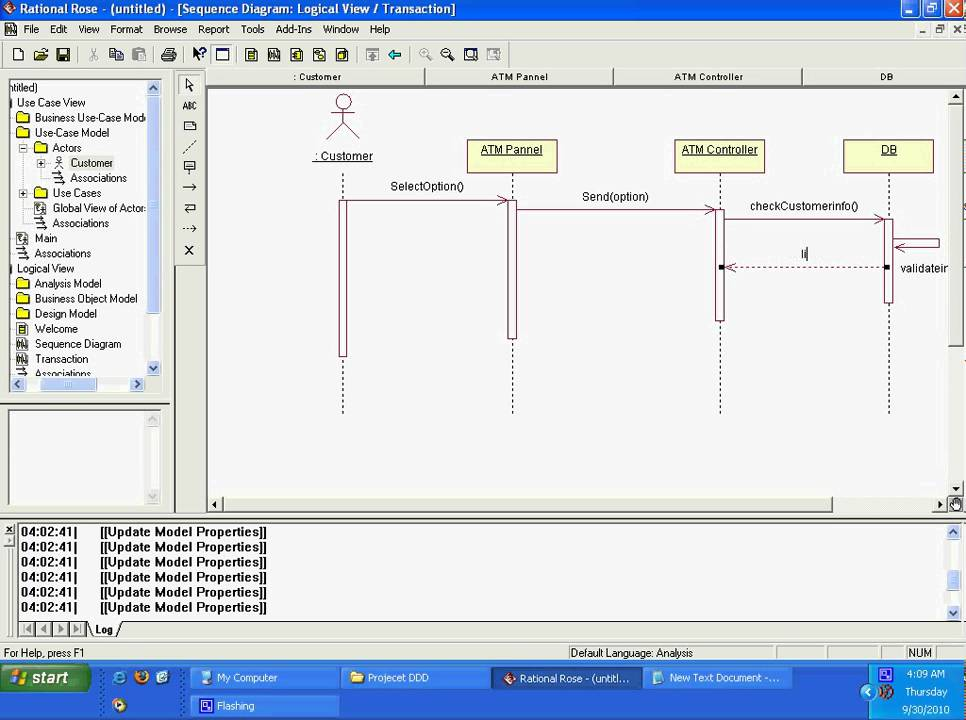Tutorial sequence diagram using rational roseavi youtube ccuart Image collections
