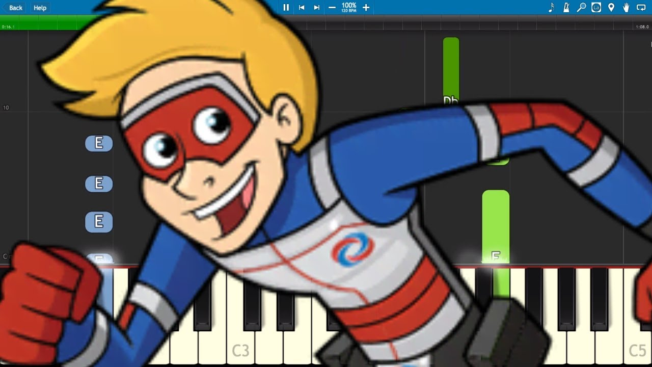 The Adventures Of Kid Danger Theme Song Easy Piano