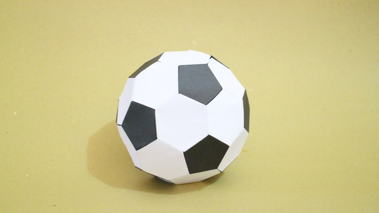 how to origami soccer ball size 2 blackwhite youtube
