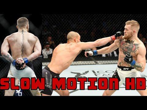 Conor McGregor's Brutal Knockout on Eddie Alvarez - Slow Motion HD