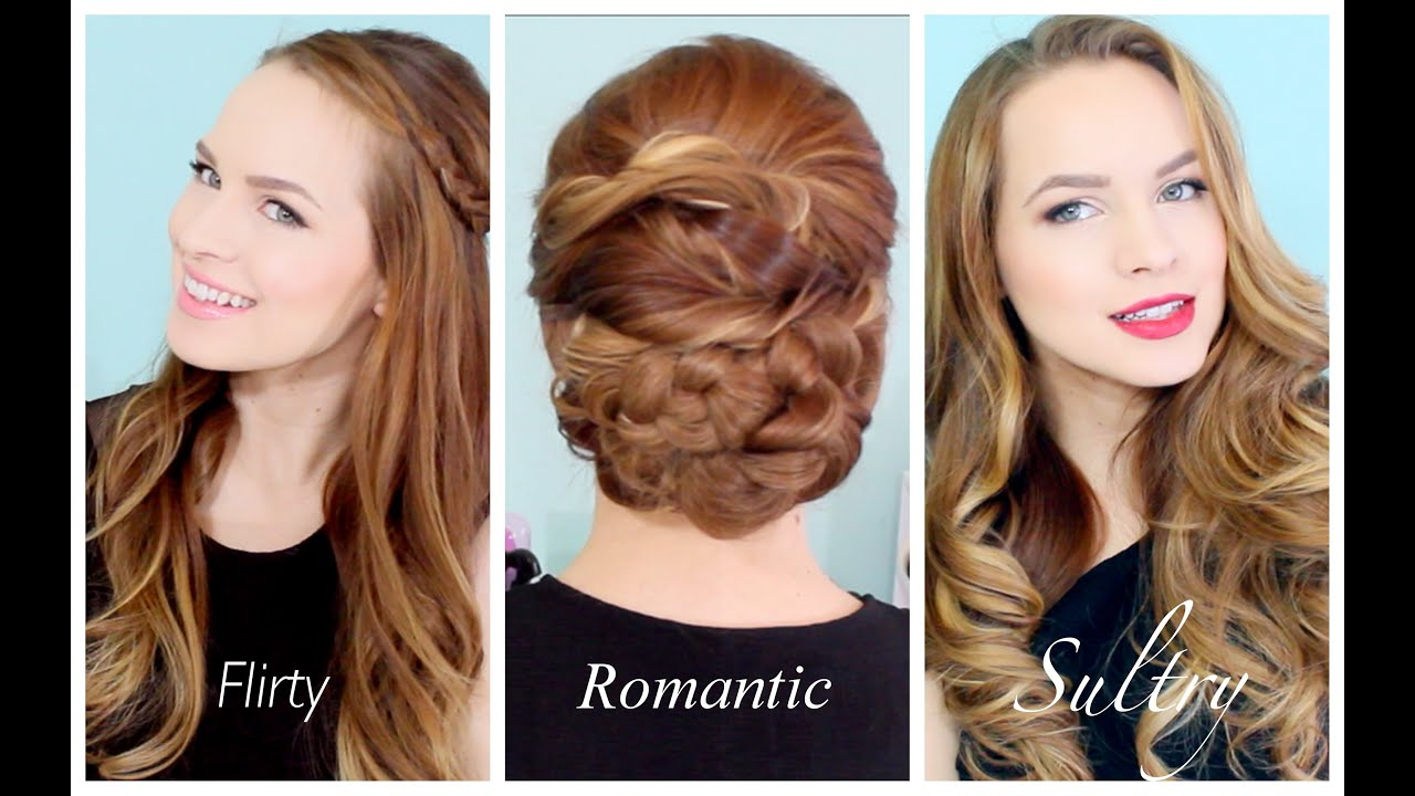 Valentines Hairstyles: 3 Valentines Hairstyles For Any Occasion!!
