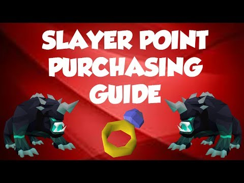 OSRS SLAYER POINT PURCHASING GUIDE