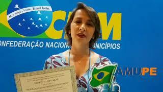 Débora Almeida prefeita de São bento do Una fala sobre o 3° Lugar no Prêmio MuniCiência