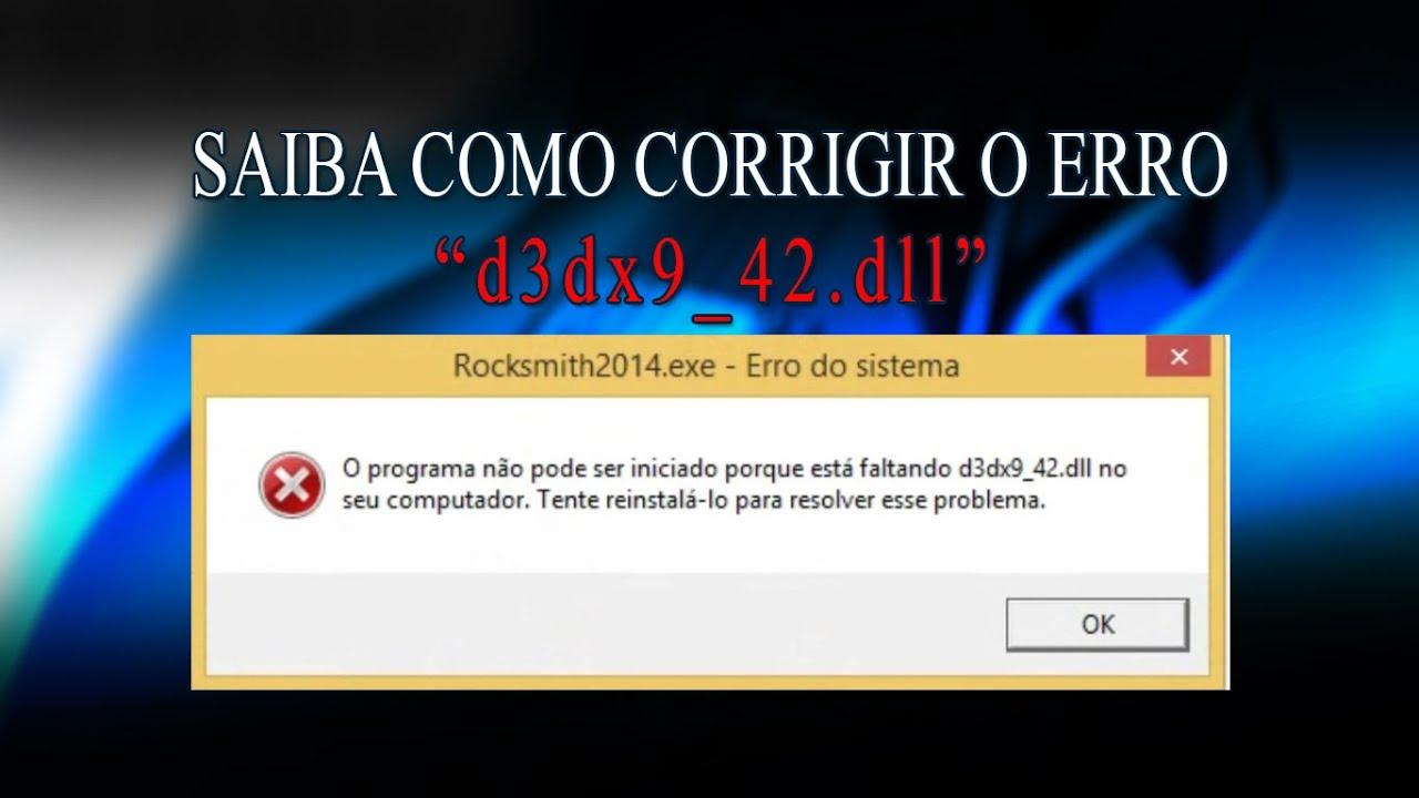 le fichier d3dx9 42.dll